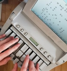 Court Reporter and Steno Machine