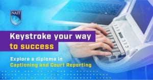 NAIT Captioning and Court Reporting Logo